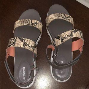 Cole Haan snakeskin platform sandals